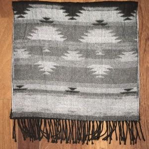 Berkshire Gray Reversible Scarf - Made in Italy